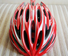New Rubar Bicycle ROAD CYCLING MOUNTAIN  BIKE MTB Safety Helmet Small Medium 250G 54-58cm 27 holes RED/White for Adults unisex