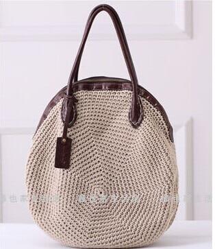 free shipping genuine leather women's handbag fluid line handmade woven bag circle one shoulder dual-use portable women's