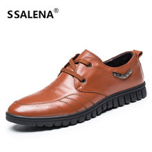 Men Dress Shoes Genuine Leather Breathable Business Working Shoes for Male Pointed Toe Comfortable Wedding Shoes AA10033