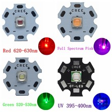 5PCS 5050 Epileds XML XM-L T6 LED 10W High Power LED Red Green Blue UV Pink Lake Blue Golden Yellow Emitter Diode for DIY Parts(China)