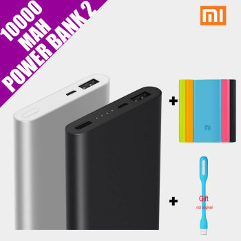 Original Xiaomi Mi Power Bank 2 10000mAh External Battery Portable Mobile Backup Bank MI Charger for Android iPhones 7 plus,iPad!