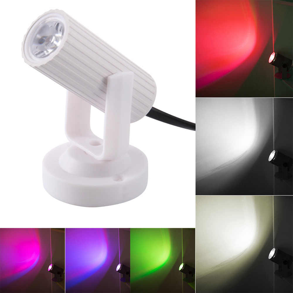 RGB LED escenario iluminación Pinspot Beam Spotlight DJ DISCO fiesta KTV luz de fondo escenario Navidad boda Show