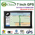 7 inch car GPS SIRF Atlas VI CPU, Apical GPS 800MHz, 256M, bluetooth, AV-IN ,support phone call navigator, new map free shipping