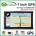 7 pulgadas del coche GPS SIRF Atlas VI cpu, Apical GPS 800 mhz, 256 m, bluetooth, av-in, llamada telefónica apoyo navegador, nuevo mapa envío gratis
