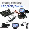 Viecar 4 Sensors LED Display/ LCD Display /Buzzer 22mm Car Parking Sensor Kit Reverse Backup Car Parking Radar Monitor