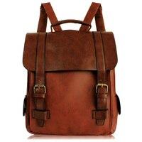 Retro Motorcyle Bag British Style Schoolbag Fashion Classic Backpack Women Men Designer Belt Buckle Vintage PU