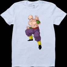 цены Dragon Ball Z Tien White, Custom Made T-Shirt Free shipping  Harajuku Tops t shirt Fashion Classic Unique t-Shirt