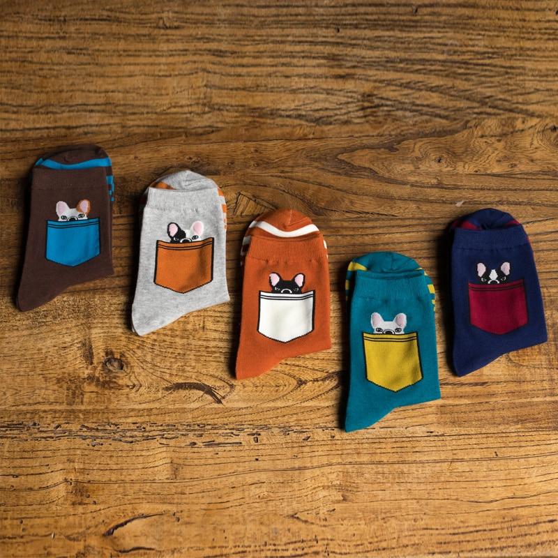 Man   Socks   cartoon pocket Animal Pet man   socks   Winter Thick Warm man cotton   socks   EUR39-44