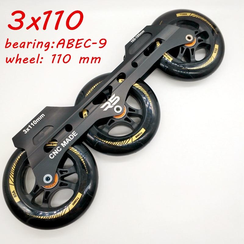 free shipping speed skate frame 3*110 mm bearing ABEC-9free shipping speed skate frame 3*110 mm bearing ABEC-9