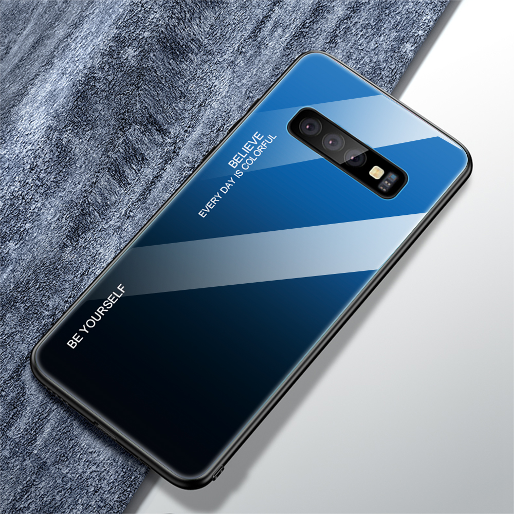 For Samsung Galaxy S10 Plus S10 Lite Case Gradient Tempered Glass Phone Cases For Samsung S10 S9 S8 Plus Note 9 Note 8 Cover     (22)