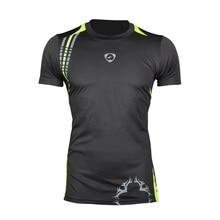 все цены на New Arrival 2016 men Designer T Shirt Casual Quick Dry Slim Fit running Sport shirts Tops & Tees Size S M L XL LSL1052 онлайн