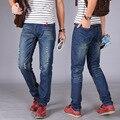 Осень человека сломанной отверстие патч носить хлопок джинсы мужской Моды Основной раздел брюки