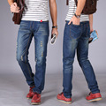 Autumn man's broken hole patch worn cotton jeans male Fashion Basic section pants