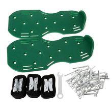 Пара газон пластик аэратор обувь сандалии трава шипы ногтей культиватор Двор садовый инструмент