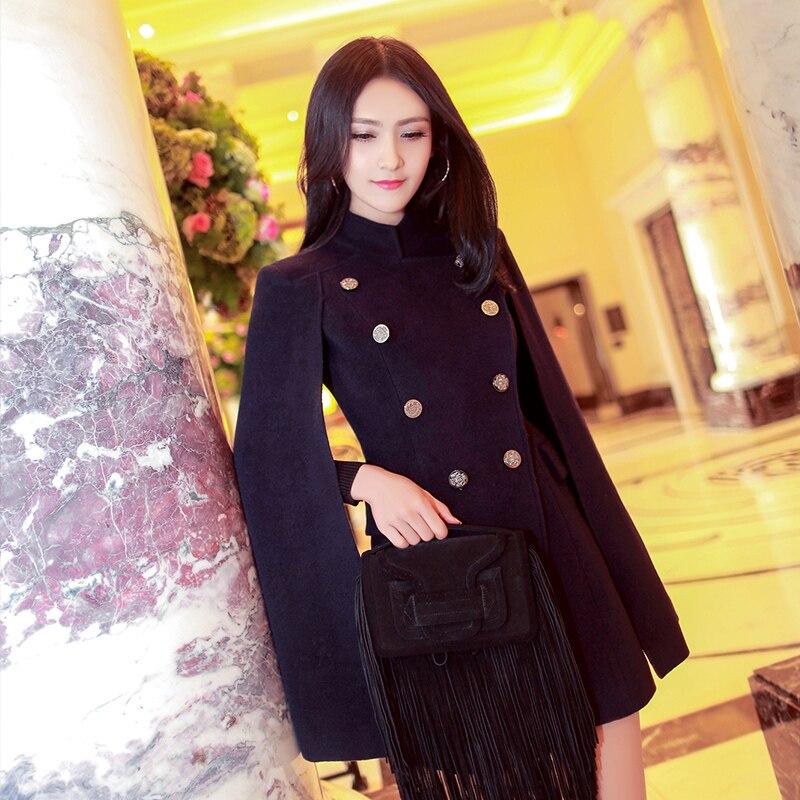 D'hiver Kaban Automne Nouvelle Breasted Mode Coloré Manteaux Bayan Europe 2016 Noir Fashionista Et Double Veste Réel Manteau Hiver Couleur xv44t