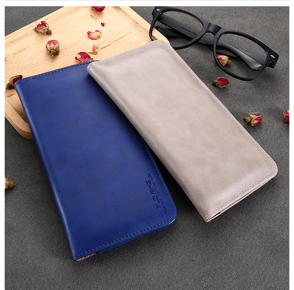 FLOVEME Genuine Leather Wallet Case For iPhone 6 6S 7 Plus Cover Multi-function Vintage Luxury Phone Pouch For Samsung S6 S7 (23)