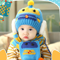 2 piece/ set Hat Scarf Baby Winter Cap  Knit Beanie Bonnet Warm Hats for Children Neck Warmer Photography Props