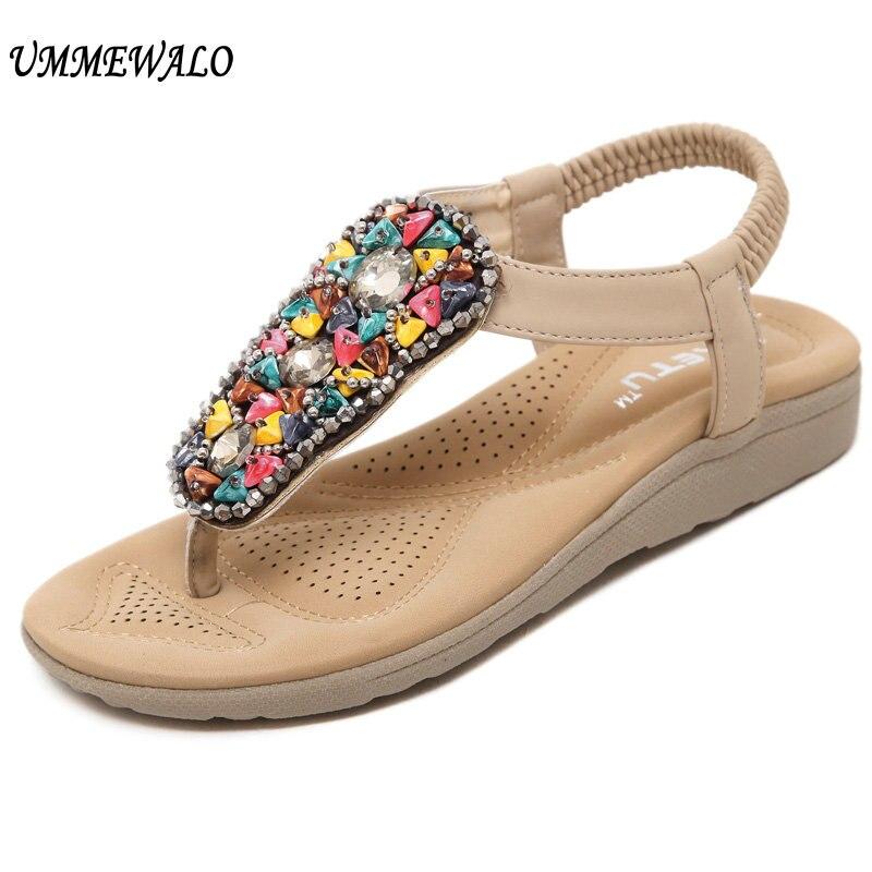 4b4f68985 UMMEWALO Sandals Women Flip Flop Thong Flat Sandals Ladies Summer T-strap  Sandal Shoes Zapatos