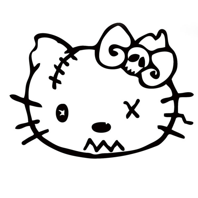 Wholesale 50 pcs/lot Cute Cats Zombie Sticker Car Window Door Vinyl Decal 8 Colors Lips Ak47 Cat Bad Dead