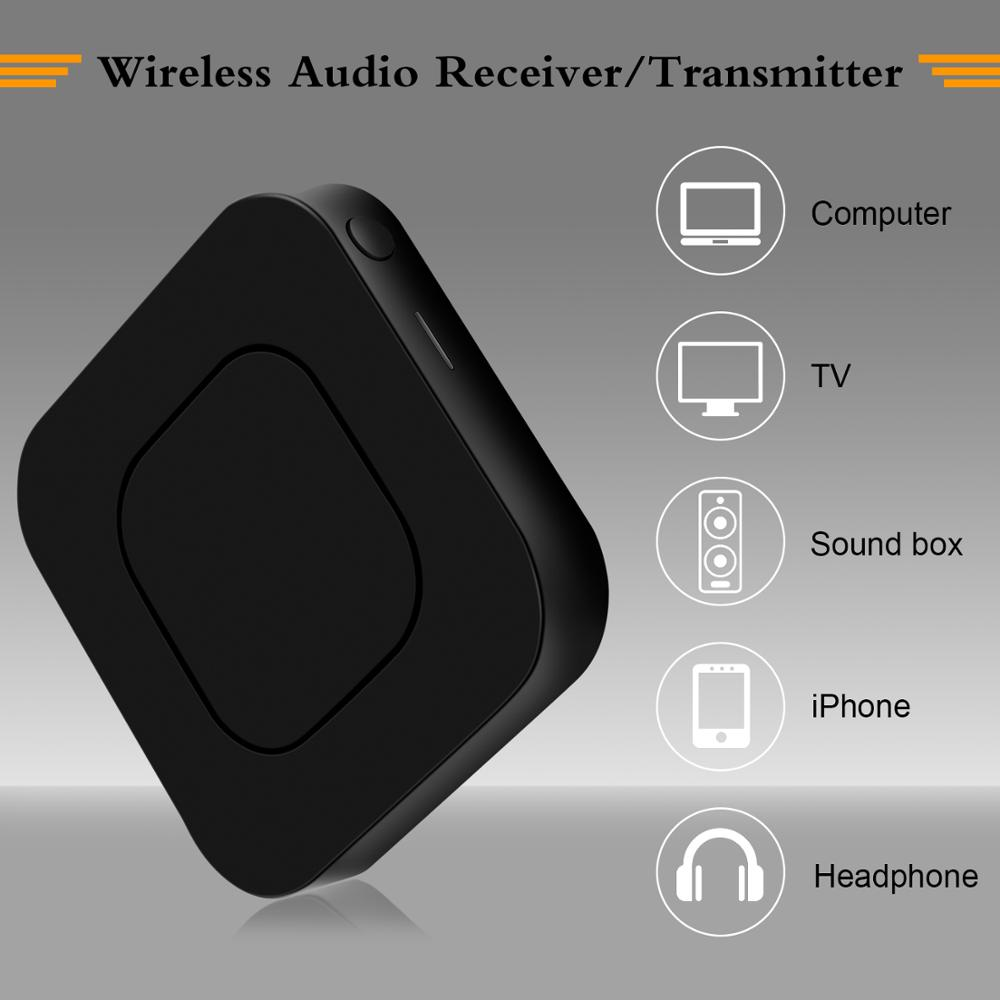Image 4 - 2 in 1 Wireless Bluetooth 4.2 Audio Transmitter Receiver 3.5mm Aux Adapter For TV Home Stereo System PC Earphone Speaker-in USB Bluetooth Adapters/Dongles from Computer & Office
