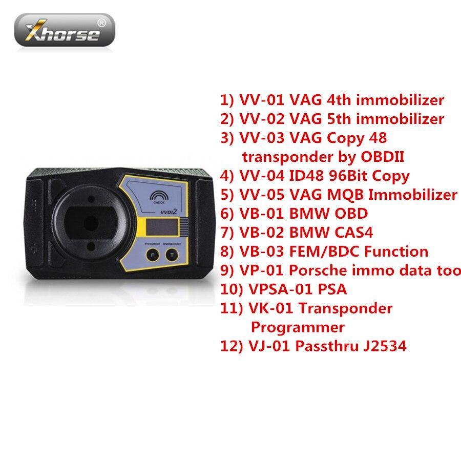 ②Xhorse VVDI2 Full Kit with OBD48+96bit 48-Clone+MQB+for
