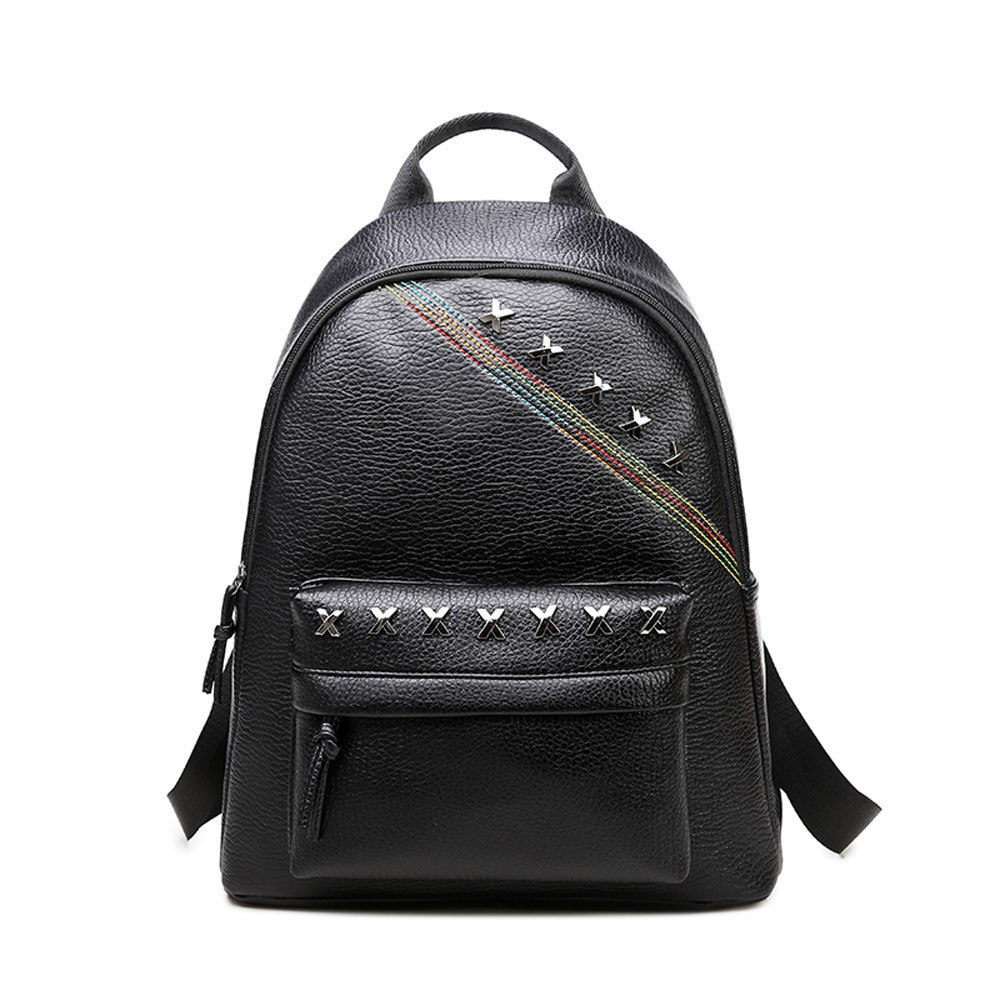 Popular Black Leather Backpack Purse-Buy Cheap Black Leather ...