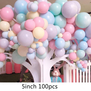 Image 5 - 100pcs/lot 5 Inch Macarons Color Double Layer Latex Round Inflatable Balloon For Birthday Party Decoration/Wedding/Engage