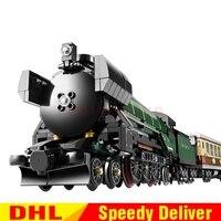 LP 21005 1085Pcs Technic Series Emerald Night Train Model Building Kit Block Bricks LPings Toys Clone 10194