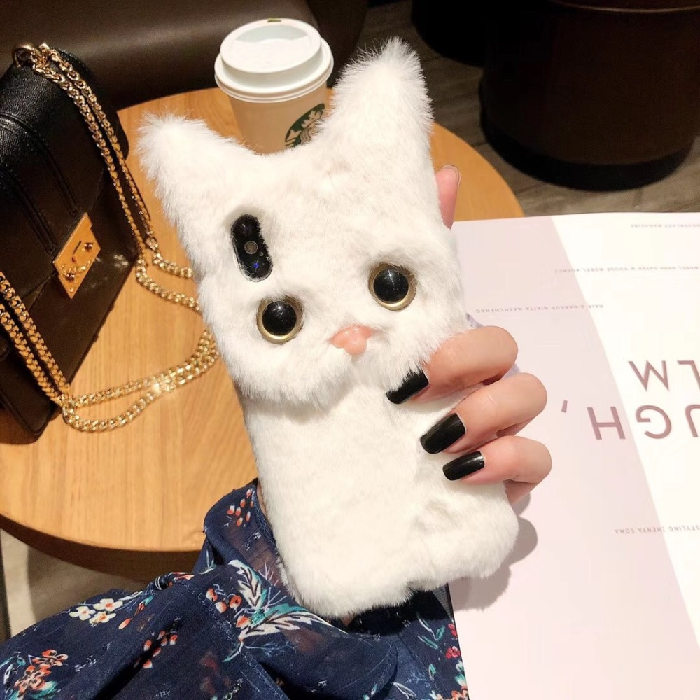 furry cat phone case