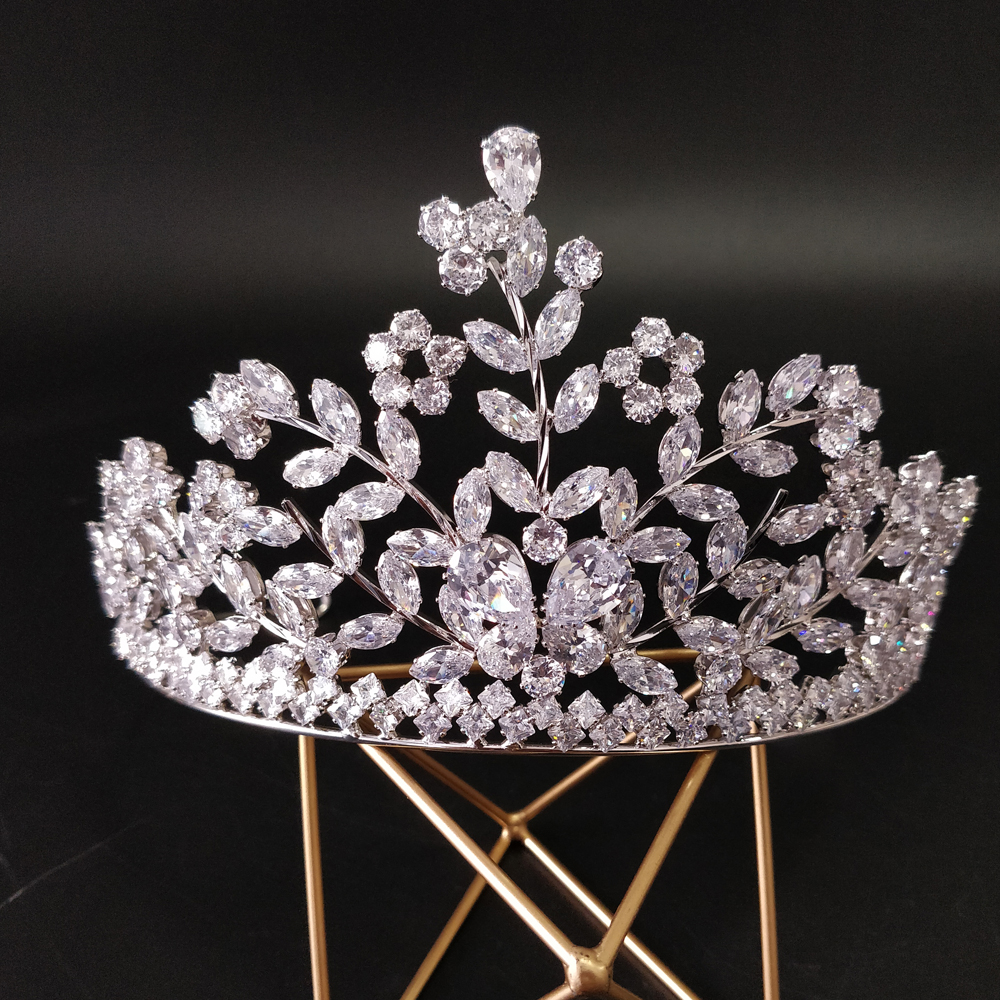 Fashion Bride Crown Wedding Tiaras With Zircon Women Hair Accessories Jewelry Headpiece Luxury Headband Crown 2019Fashion Bride Crown Wedding Tiaras With Zircon Women Hair Accessories Jewelry Headpiece Luxury Headband Crown 2019