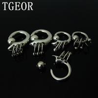 HOT Body Piercing 1pcs Mixed Sizes 316L Surgical Stainless Steel New Style Silver Captive Ring