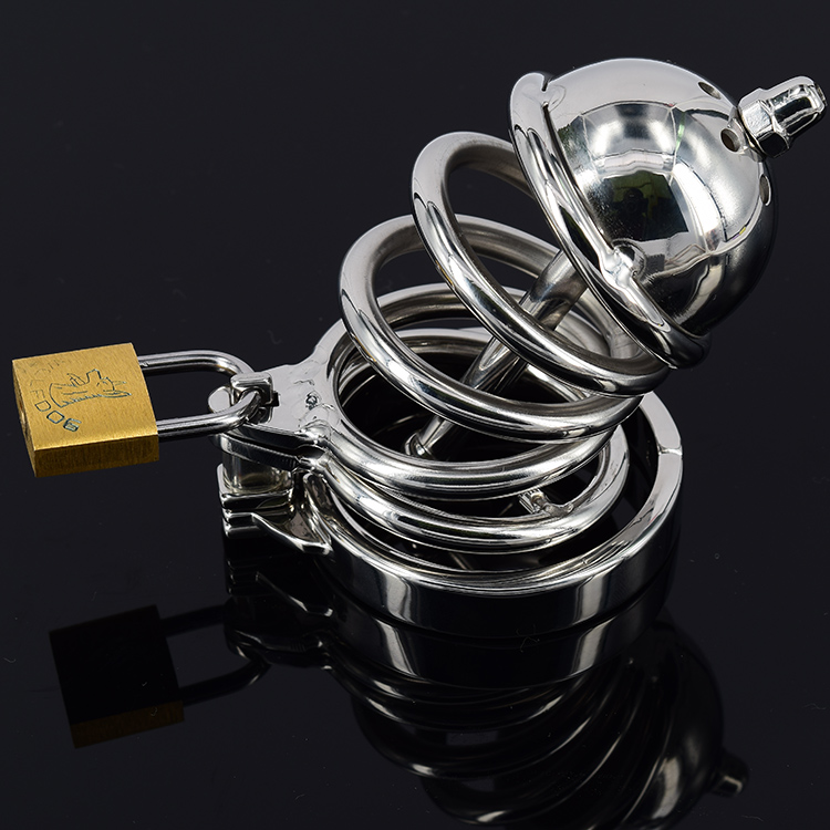 Male Chastity Belt With Spikes Anti-Off Penis Ring/Urethral Sound, Stainless Steel Cock Cage Device, Penis Plug Catheter Sex Toy metal cockring penis cage with anti off ring stainless steel male chastity device adult sex toys cock rings for men cb6000s