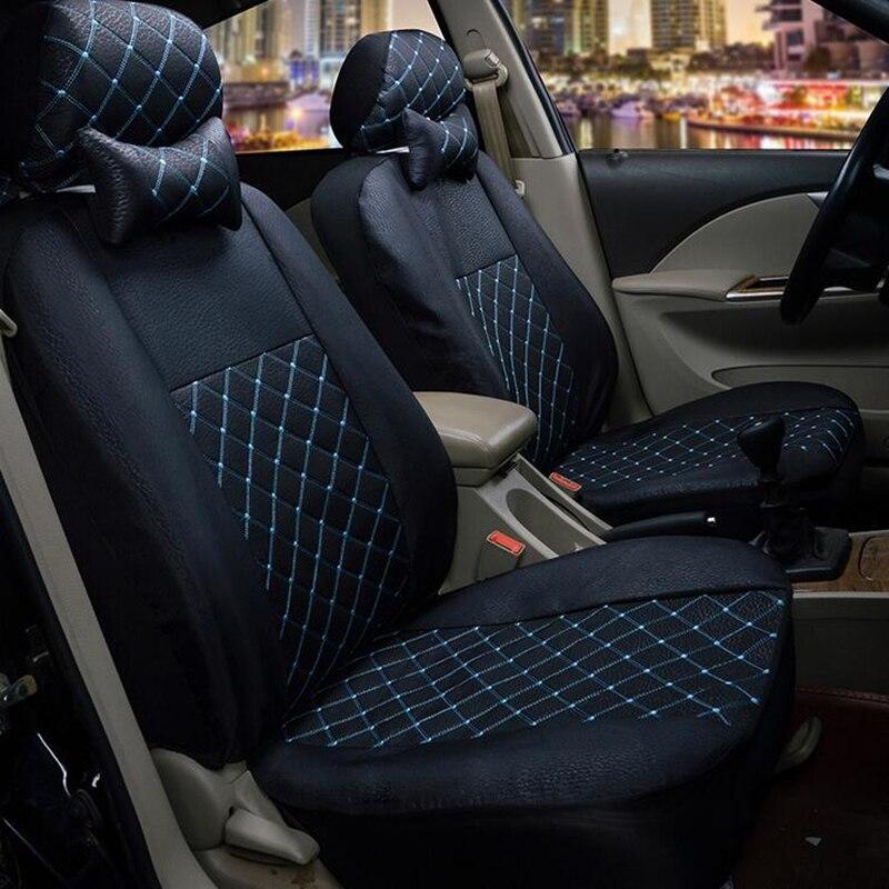 Personalizzata di Lusso del Cuoio Artificiale modello di Auto auto Coprisedili Automotive Universale FrontRear Sedile per KIA RIO peugeot lada kalina