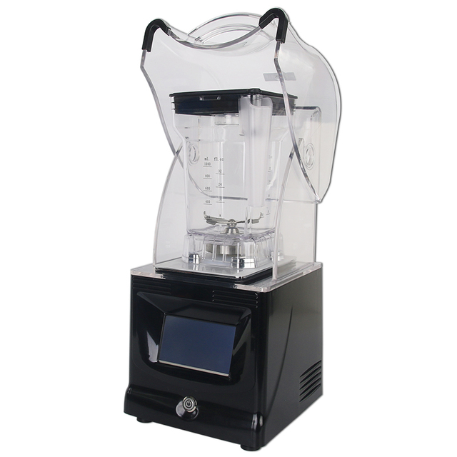 GZZT Professional Touchpad Blenders With Enclosures Smoothies Ice Crushing Blender Milk Shake Food Mixers Commercial Blenders