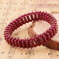 Venda quente de Alta qualidade Natural granada pulseira de dama da moda jóias bracelete de cristal presentes