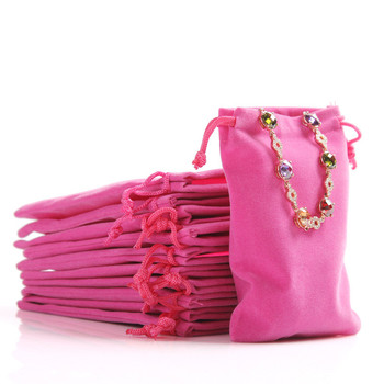 10Pcs High quality Custom Jewelry Gift Bags Soft Lot Velvet Packaging Drawstring Christmas Wedding & Pouches 3 sizes