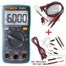 ANENG AN8002 Dijital Multimetre 6000 sayımlar Arka AC/DC Ampermetre Voltmetre Ohm Taşınabilir Metre