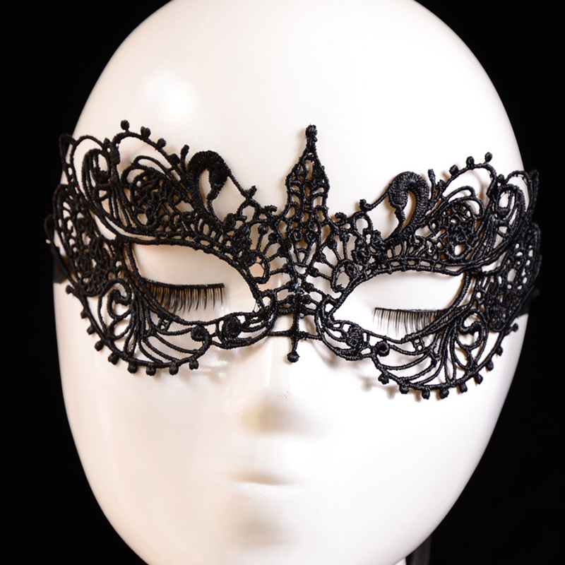 2017 New Fashion Lady Black Lace Floral Eye Mask Venetian Masquerade Fancy Party Dress Charming Holiday Halloween Mask Accessory bheema venetian ball party women s lace flower mask masquerade halloween red
