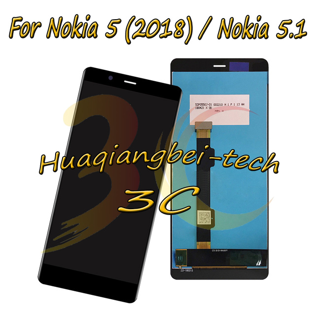5.5 ''עבור Nokia 5.1 N5.1 TA-1061 TA-1075 TA-1076 TA-1081 מלא LCD תצוגה + מסך מגע Digitizer עצרת עבור Nokia 5 (2018)