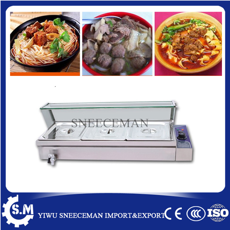 3pans Commercial used electric food warmer for sale