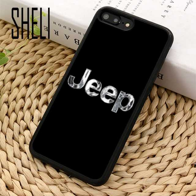 new styles fcb35 dbee5 SHELI Car Jeep Logo Phone Case Cover For iPhone 6 6S 7 8 Plus X XR XS max 5  5S SE Samsung Galaxy S6 S7 edge S8 S9 Plus