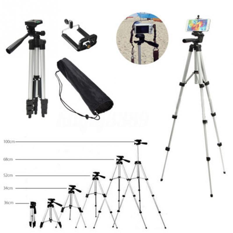 Tripod for phone 360 Horizontal Telescopic Camera Stand Ultra-portable Aluminun Adjustable Holder Phone Tripod Stand Mount 100cm