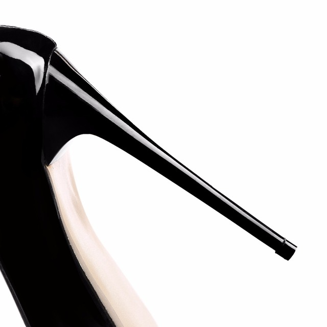 Brand New Sexy Red White Black Women Nude Formal Pumps Ladies Glossy Shoes High Gladiator Heels EM10-3 Plus Big Size 10 12 43 47