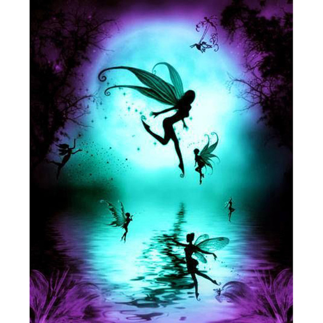 dragonfly elf girl Full round Mosaic Painting Diy 5D Diamond Painting 3D  Cross Stitch Diamond Embroidery Handmade Crafts AS028 5574334d0d9e
