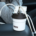 Remax USB Car Charger 3.1A Coffee Cup Design 4 in 1 USB Cable For iPhone 5s 6 Plus For Samsung For Android Phone