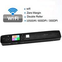KEMBONA Iscan Wireless Wifi Portable Digital Scanner1050DPI Handyscan Document Photo Receipts Books Double JPG / PDF TF Card 32G