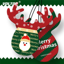 Christmas Antler Car Ornaments Accessories for Girls Hanging Decoration Interior Pendant Perfume Air Freshener