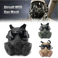 Halloween Mask DC 15 M50 Full Face Skull Mask CS Gas Mask Tactical War Game cosplay Party Mask Sand/Green/Black