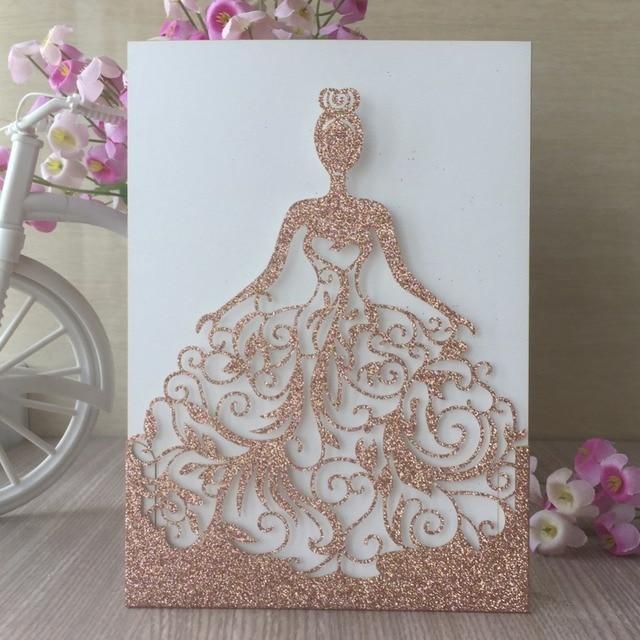 Aliexpress Com Buy 20pcs Laser Cut Glitter Paper Craft Rose Gold