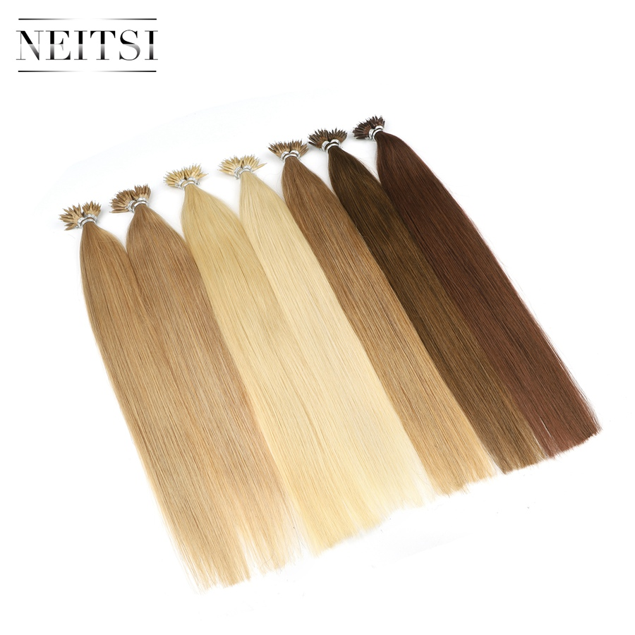 Neitsi Indian Straight Loop Micro Ring Hair Nano Ring Beads - Մարդու մազերը (սպիտակ) - Լուսանկար 3